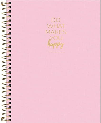 CADERNO UNIVERSITARIO 160 FOLHAS 10 MATERIA HAPPY ROSA - 305553