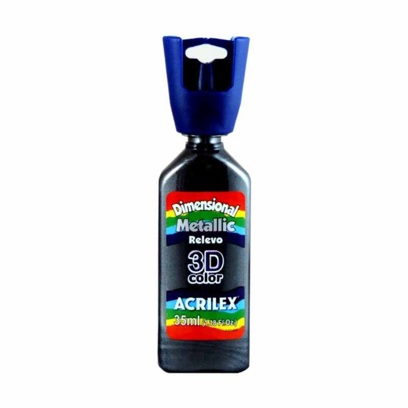 TINTA DIMENSIONAL METALICA 35ML 520 PRETO - 123120520