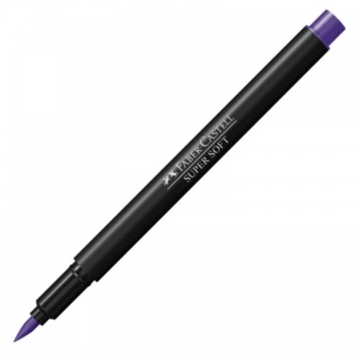 HIDROGRAFICA SUPERSOFT BRUSH PEN ROXA - HSOFT/RX